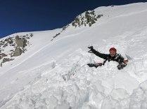 """Mauri in a """"mini"""" avalanche"""