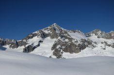 View of Galenstock, highest peak in the region