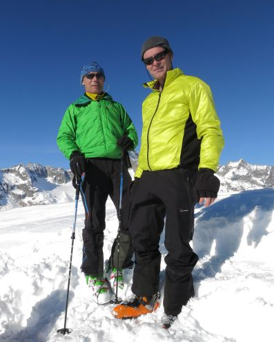 André (right) and me on the top