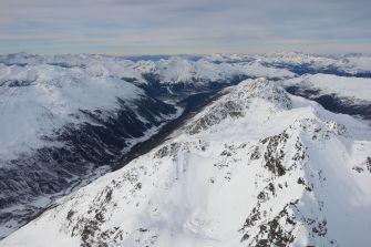 "View towards ""green"" Davos"