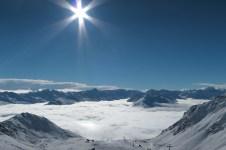 Davos below in the fog