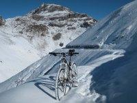 """Bike """"ride"""" from Weissfluh to Strela Pass"""