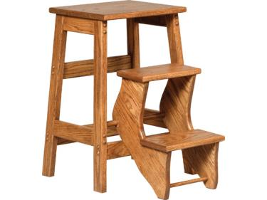 chair step stool ironing board wooden white desk on it swiss valley furniture flip out library
