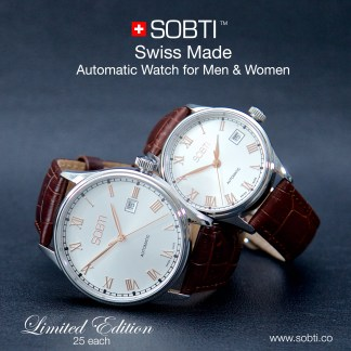 Sobti Swiss Made Automatic Watch for Men and Women