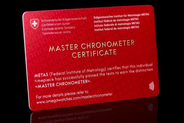 omega master chronometer certificate