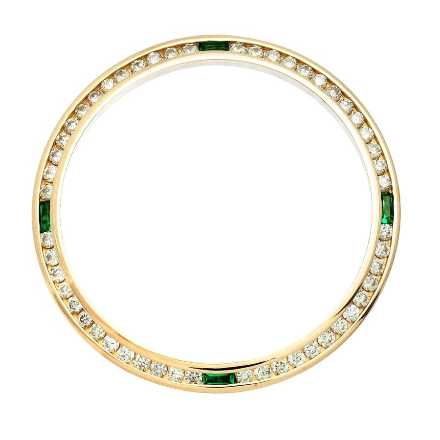 Men's Diamond and Emerald Bezel