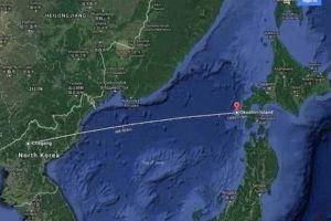 北朝鮮のICBMと航空機がニアミス?数分後に落下地点を通過