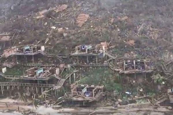 超巨大ハリケーン「イルマ」の爪痕、上空からの映像でヴァージン諸島の被害が明らかに