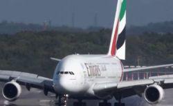 激しい突風に煽られ機体が右へ左へ、見事パイロットが姿勢を立て直し着陸に成功