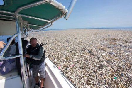 大量のプラスチック・ゴミで埋め尽くされた、美しいカリブ海の写真が衝撃的