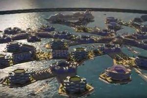 まるで夢の街…世界初の水上に浮かぶ人工都市、2020年までにも完成か