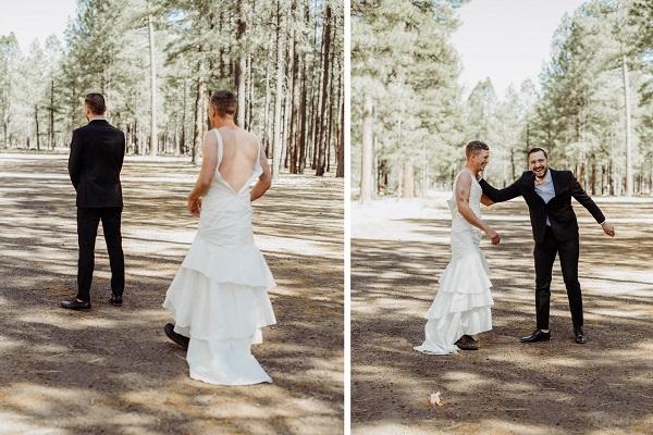 がちがちに緊張した新郎のため、花嫁がしかけた幸せあふれるドッキリ