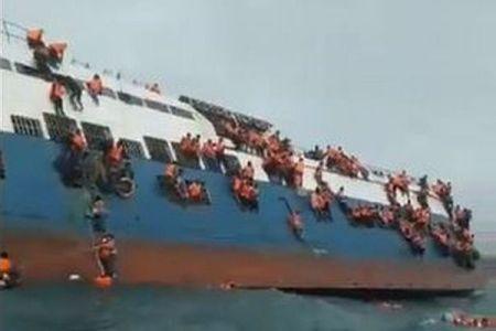 インドネシアで140人を乗せたフェリーが沈没、事故当時の映像が恐ろしい