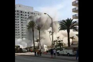 マイアミで爆破解体にミス、12階の建物が通りに倒れてきて1人が負傷