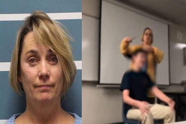 奇行におびえ逃げる子供たち…教室内で生徒の髪を強引に切る教師の姿が衝撃的【動画】