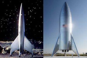 「昔のSFに出てきたような…」スペースX社が巨大ロケットの試作機を公開