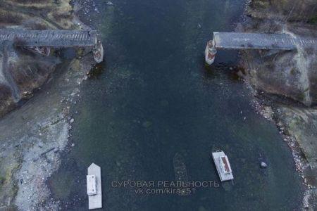 金属泥棒が盗んだ?露で橋が破壊され、その後全てが消えてしまう
