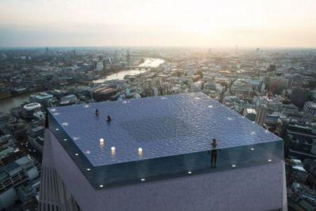 360度の景色が見渡せる!55階のビルの屋上に作られるプールがすごい