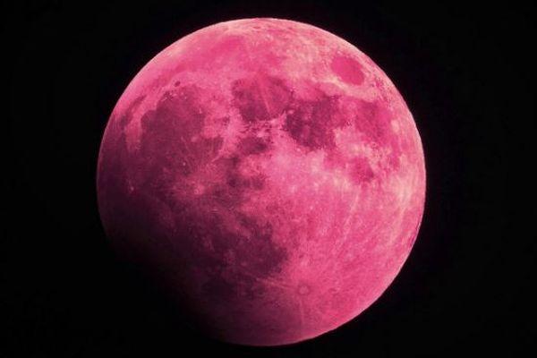 今夜は「ストロベリームーン」、恋を叶える月が夜空に浮かぶ