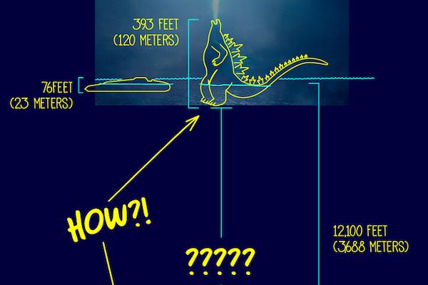 マレーシアの漫画家が、海に立つゴジラの謎を笑いで解く