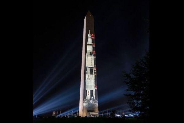 アポロ11号の月面着陸から50年、記念塔でプロジェクション・マッピングを開催へ