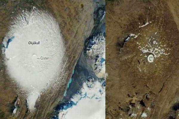 アイスランドの氷河が消失、NASAが33年前と比較した衛星写真を公開
