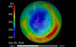 南極上空のオゾンホール、今年は発見以来面積が最も縮小:NASA