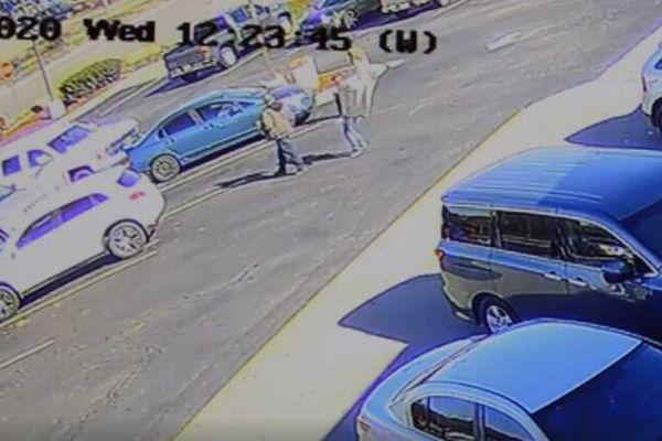 猛スピードで走ってきたシカ、駐車場の男性を倒してそのまま逃げる【動画】