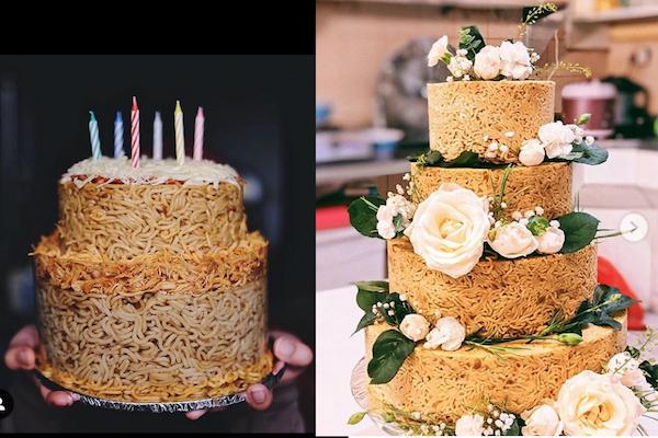 【インドネシア】即席麺で作るウェディングケーキが評判に