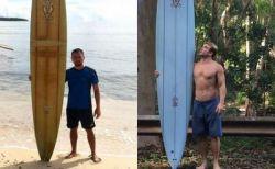 ハワイで流されたサーフボード、8000kmも離れたフィリピンで発見