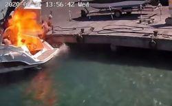 イタリアの港で突然、船が爆発、女性が吹き飛ばされる映像がショッキング