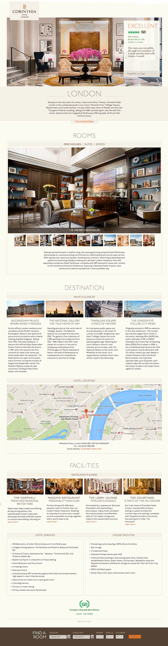 Landing page Corinthia Hotels international