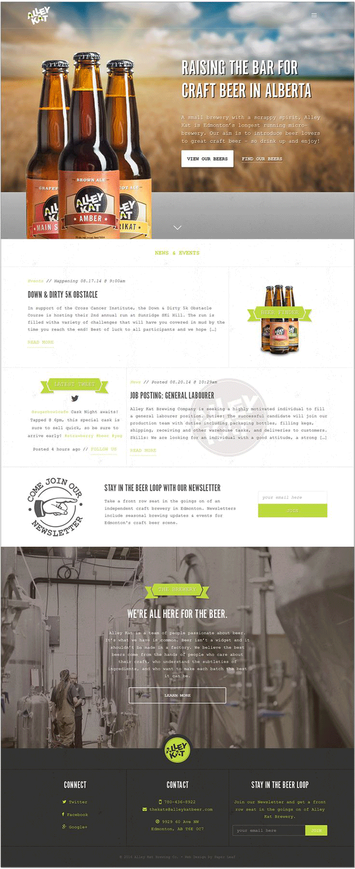 Ideal landing page Alley Kat