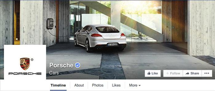 Facebook Page Porsche