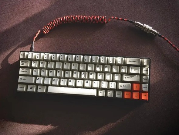 keyboard with custom cable