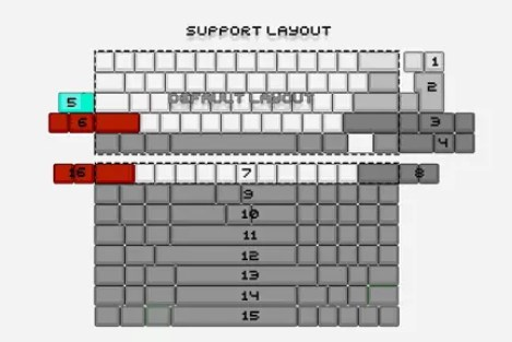DZ60 PCB keyboard support