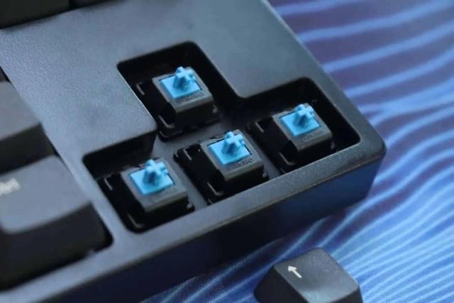 Cherry MX Blue mechanical keyboard switch