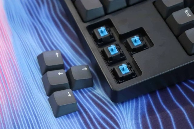 clicky switches on a mechanical keyboard