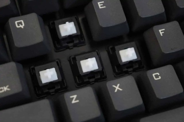 tactile switches on a mechanical keyboard