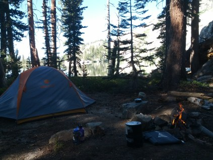 Our campsite at May Lake