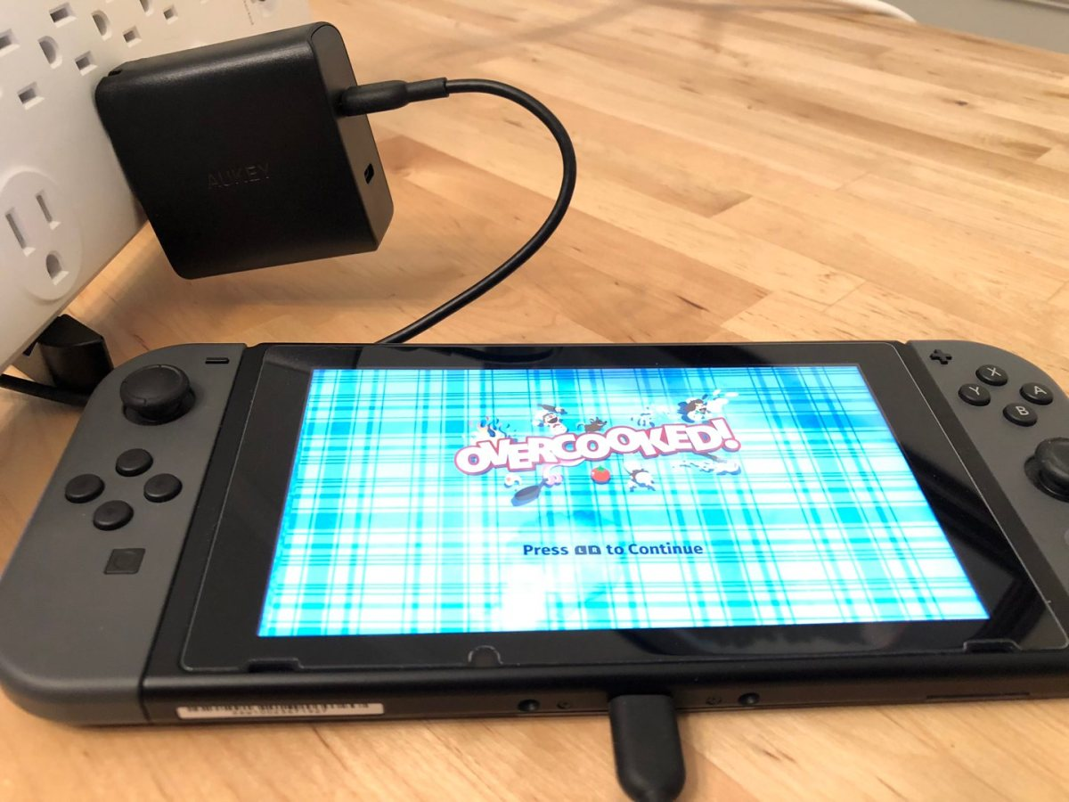 AUKEY PA-Y16 with Nintendo Switch. Cable not included.