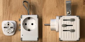 Zikko eLUGGAGE X EU plug adapter.