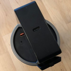 Inateck 60W PD USB-C wall charger plugged into Novoo 85W AC Portable Power Station