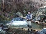 Steve on the Rose River