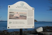 Balancing rock, Bar Harbor Maine coast