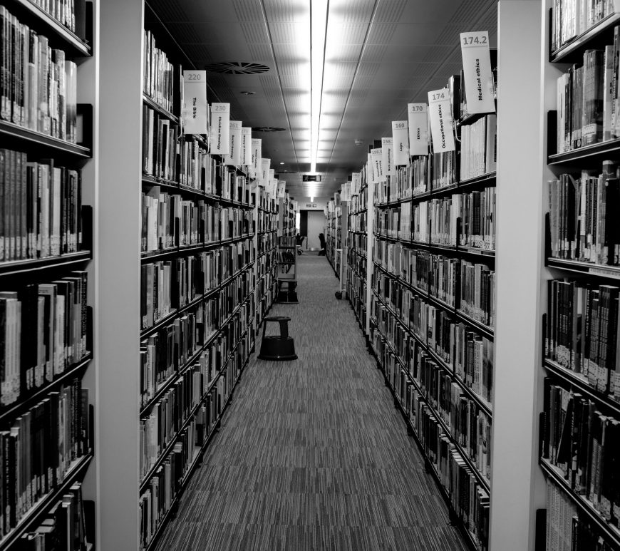 Black and White Library Shot