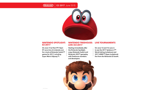 mario and mario's hat with e3 2017 event details