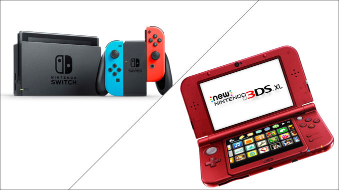 nintendo switch and nintendo 3ds xl