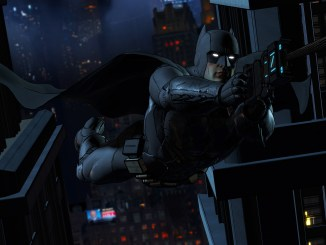 batman in telltale game zip lining through gotham