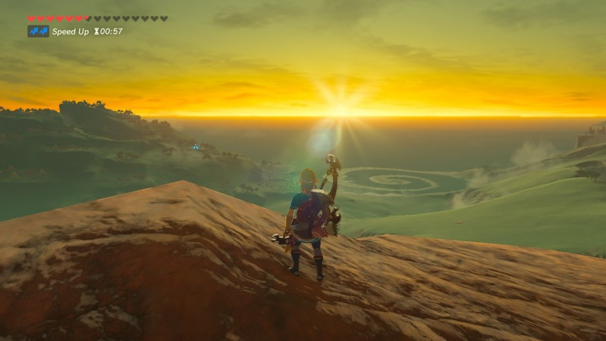 Link looking over beautiful landscape